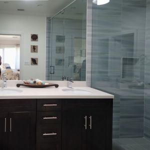 Master Bedroom #1 ensuite bath. Enjoy the luxury of the duel shower heads.